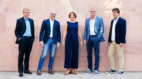 Karsten Simon, Christoph Hammerschmidt, Claudia Glaser, Michael Hofmann und Andreas Swiderski (von links)